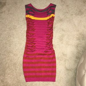 TED BAKER London striped bodycon sweater dress